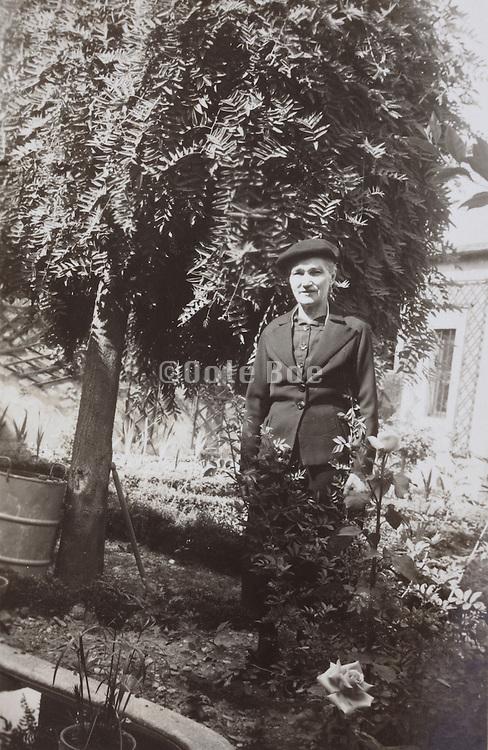 elderly female person posing in the garden France