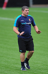 Andy Root of Worcester Valkyries leads the warm up session  - Mandatory by-line: Nizaam Jones/JMP - 22/09/2018 - RUGBY - Sixways Stadium - Worcester, England - Worcester Valkyries v Richmond Women - Tyrrells Premier 15s