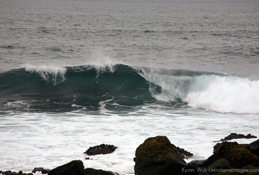 South America, Ecuador, Galapagos Islands. Surf of the Galapagos Islands.