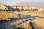 River winding through the Atacama desert, near Calafate Argentina