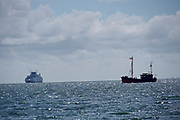 Sylt, Germany. Westerland. Ellenbogen, Northern tip of the island. The ferry from Röm (Denmark) and Rosa Palucca.