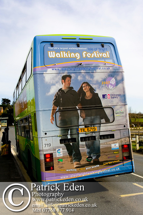 Isle of Wight Walking Festival Advert on back of Southern Vectis Bus