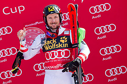 Winner Marcel Hirscher (AUT) during flower ceremony after Men's Slalom race of FIS Alpine Ski World Cup 57th Vitranc Cup 2018, on March 4, 2018 in Kranjska Gora, Slovenia. Photo by Urban Urbanc / Sportida