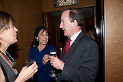 CAROLINE WALDEGRAVE; LINDA HEATHCOTE-AMORY; CHARLES MOORE, Literary charity First Story fundraising dinner. Cafe Anglais. London. 10 May 2010. *** Local Caption *** -DO NOT ARCHIVE-© Copyright Photograph by Dafydd Jones. 248 Clapham Rd. London SW9 0PZ. Tel 0207 820 0771. www.dafjones.com.<br /> CAROLINE WALDEGRAVE; LINDA HEATHCOTE-AMORY; CHARLES MOORE, Literary charity First Story fundraising dinner. Cafe Anglais. London. 10 May 2010.