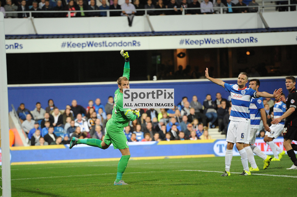 QPRs Alex Smithies in action during Queens Park Rangers v Carlisle Captial One Cup 2nd round tie on Tuesday 25th August