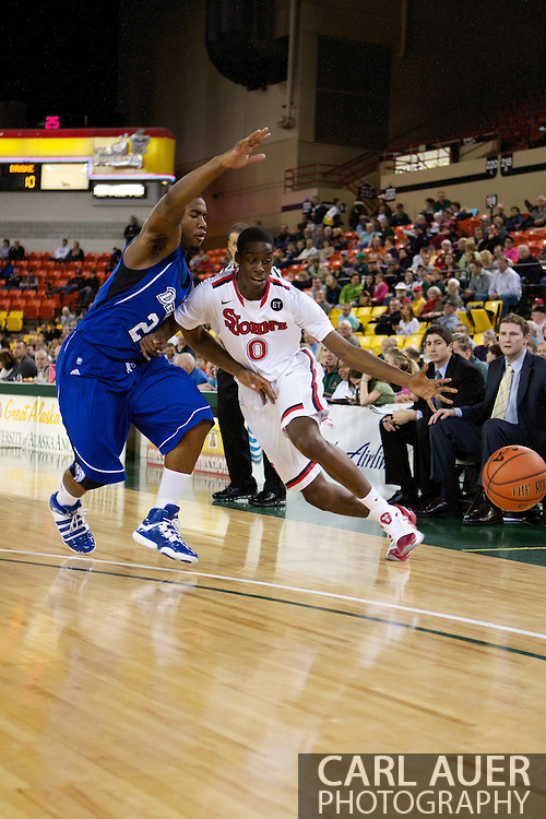 November 26th, 2010:  Anchorage, Alaska - St. John's freshman forward Dwayne Polee dribbles the ball off his foot during the Red Storm's Great Alaska Shootout game against the Drake Bulldogs.  The Red Storm defense held Drake to a tournament low score as St. Johns advanced to the final game 82-39.