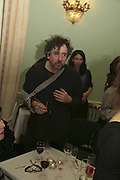 TIM BURTON, PARTY AT DARTMOUTH HOUSE AFTER A PREMIERE SCREENING OF PERFUME AT THE CURZON. LONDON.<br />5 December 2006. ONE TIME USE ONLY - DO NOT ARCHIVE  © Copyright Photograph by Dafydd Jones 248 CLAPHAM PARK RD. LONDON SW90PZ.  Tel 020 7733 0108 www.dafjones.com