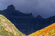 The Garden Wall from Iceberg Lake Trail. Glacier National Park, Montana