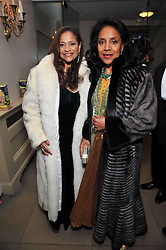 Left to right, Debbie Allen  and Phyllicia Rasha at the Royal Rajasthan Gala 2009 benefiting the Indian Head Injury Foundation held at The Banqueting House, Whitehall, London on 9th November 2009.