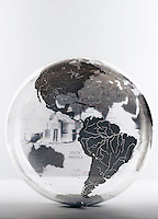 Inflatable Globe showing North and South America