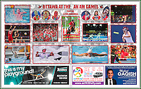 Double Centre-Page spread in the August 2015 edition of the Ottawa Sportspage.
