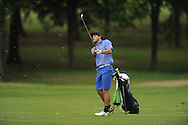 Oxford High's Ethan Holmes hits a shot on the 15th hole during the closing round of the MHSAA Class 5A state championship golf tournament at the Ole Miss Golf Course in Oxford, Miss. on Thursday, May 2, 2013. Oxford High won to win the state championship.