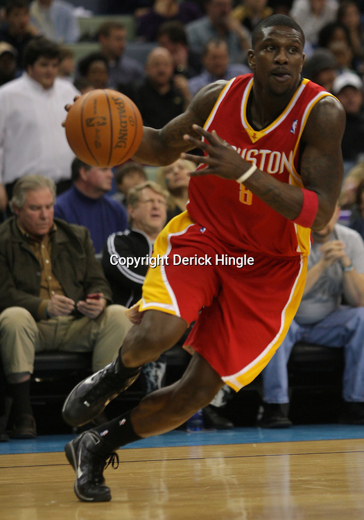 Jan 02, 2010; New Orleans, LA, USA; Houston Rockets guard Jermaine Taylor (8) drives with the ball against the New Orleans Hornets during the second quarter at the New Orleans Arena. Mandatory Credit: Derick E. Hingle-US PRESSWIRE