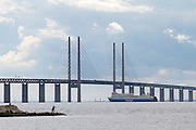 Malmö. Öresund Bridge connects Malmö in Sweden and Denmark's capital Copenhagen, and with its length of 8 kilometers is the longest road and rail bridge in Europe.