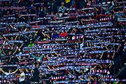 Paris Saint-Germain fans cheer during the UEFA Champions League, Group B football match between Paris Saint-Germain and Bayern Munich on September 27, 2017 at the Parc des Princes stadium in Paris, France - Photo Benjamin Cremel / ProSportsImages / DPPI
