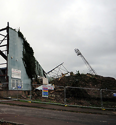 21/11/2017, FAMOUS K FLOODLIGHTS PULLED DOWN, Demolition of the Ground of Kettering Town Football Club, to make way for 88 Houses, the club was formed in 1872 and moved into the Rockingham Road Ground 120 years ago in 1897.