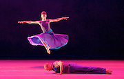 Alvin Ailey American Dance Theater<br /> at <br /> Sadler&rsquo;s Wells London Season and subsequent UK Tour 6 Sept &ndash; 19 Oct 2016<br /> <br /> <br /> Artistic director Robert Battle<br /> <br /> 7th September 2016 <br /> <br /> Jacqueline Green and Yannick Lebrun <br /> <br /> Open Door <br /> rehearsal <br /> <br /> Alvin Ailey American Dance Theater, founded in 1958, is recognised by the U.S. Congress as a vital American &ldquo;Cultural Ambassador to the World.&rdquo;  Under the leadership of Artistic Director Robert Battle, Ailey&rsquo;s performances celebrate the human spirit through the African-American cultural experience and the American modern dance tradition.  In almost six decades, Ailey&rsquo;s artists have performed for over 25 million people in 71 countries on six continents and continue to wow audiences and critics around the world.<br /> <br />  <br /> <br /> Open Door (UK PREMIERE) Choreography by Ronald K. Brown / Music: Arturo O&rsquo;Farrill and the Afro-Latin Jazz Orchestra. Acclaimed choreographer Ronald K. Brown&rsquo;s Cuban-inspired Open Door is a work for 10 dancers set to the music of Arturo O&rsquo;Farrill and the Afro-Latin Jazz Orchestra, including their recent Grammy-Award winning album Cuba: The Conversation Continues. Brown&rsquo;s travels to Cuba inspired much of the movement, from the salsa partnering to the references to Elegba &ndash; the Santer&iacute;a god who opens pathways.  A testament to the power of dance and music as vehicles for culture and compassion, Open Door marked Brown&rsquo;s sixth work for the Company. <br /> <br /> <br /> <br /> <br /> <br /> Photograph by Elliott Franks <br /> Image licensed to Elliott Franks Photography Services
