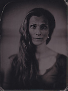 Zenaida Yanowsky, principal at the Royal Ballet, Royal Opera House, London. Wetplate, collodion, tintype portrait.