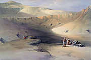 Entrance to the Tombs of the Kings of Thebes - Bab-el-Malook'.; lithograph after watercolour by David Roberts (1796-1864) Scottish artist. Ancient Egypt Archaeology Building