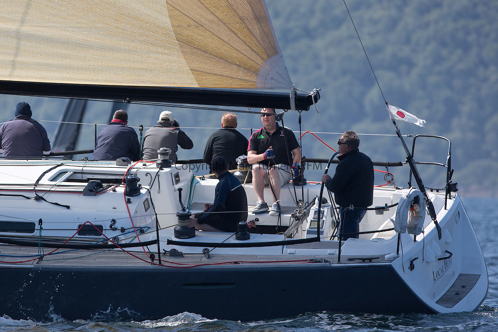 Final days' racing at the Silvers Marine Scottish Series 2016, the largest sailing event in Scotland organised by the  Clyde Cruising Club<br /> <br /> Racing on Loch Fyne from 27th-30th May 2016<br /> <br /> GBR447R, Local Hero, Geoff &amp; Norman Howison, RGYC, Beneteau 44.7<br /> <br /> Credit : Marc Turner / CCC<br /> For further information contact<br /> Iain Hurrel<br /> Mobile : 07766 116451<br /> Email : info@marine.blast.com<br /> <br /> For a full list of Silvers Marine Scottish Series sponsors visit http://www.clyde.org/scottish-series/sponsors/