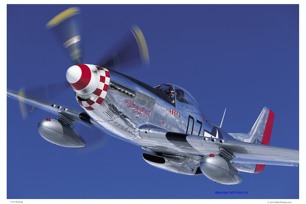 P-51 Mustang aerial photography