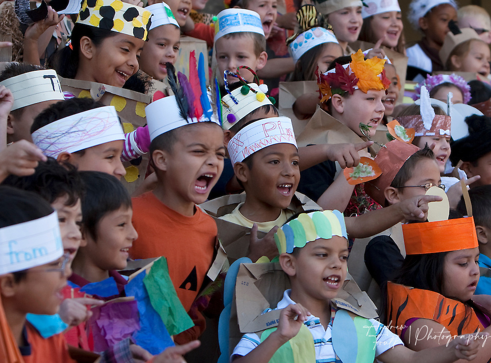 "/Andrew Foulk/ For The Californian/ .First graders at Avaxat Elementary scream and act like a wild animals during the schools ""Wild Rumpus"" where students dressed up as characters from the book ""Where the Wild Things Are""."