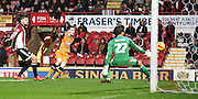Andrew Robertson fires Hull into the lead during the Sky Bet Championship match between Brentford and Hull City at Griffin Park, London, England on 3 November 2015. Photo by Michael Hulf.