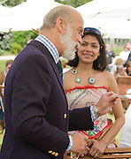 Prince Michael of Kent; Sagarika de Costa, The Cartier Style et Luxe Concours lunch at the Goodwood Festival of Speed. July 13, 2008  *** Local Caption *** -DO NOT ARCHIVE-© Copyright Photograph by Dafydd Jones. 248 Clapham Rd. London SW9 0PZ. Tel 0207 820 0771. www.dafjones.com.