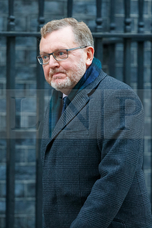 © Licensed to London News Pictures. 17/01/2017. London, UK. Scottish Secretary DAVID MUNDELL attends a cabinet meeting in Downing Street on Tuesday, 17 January 2017 before Prime Minister Theresa May's Brexit plan speech. Photo credit: Tolga Akmen/LNP