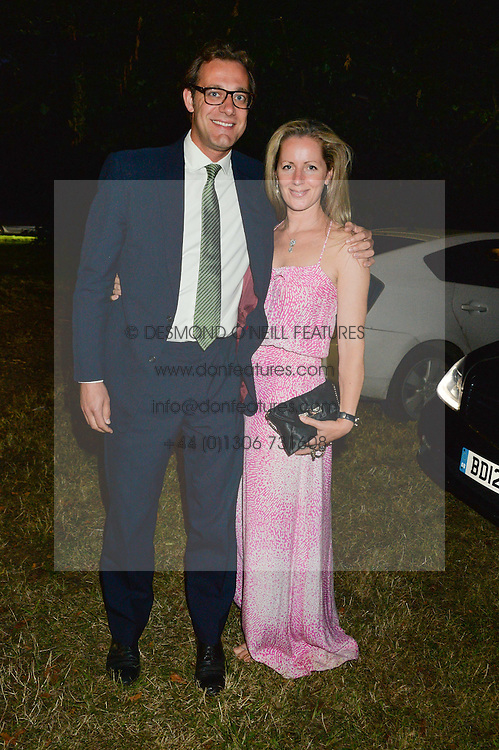 MAX & JULIA KONIG attending Annabel Goldsmith's Summer party held at her home in Ham, Surrey on 10th July 2014.