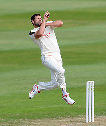 Nottinghamshire's Ben Hilfenhaus - Photo mandatory by-line: Harry Trump/JMP - Mobile: 07966 386802 - 16/06/15 - SPORT - CRICKET - LVCC County Championship - Division One - Day Three - Somerset v Nottinghamshire - The County Ground, Taunton, England.