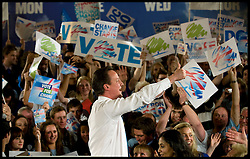Leader of the Conservative Party David Cameron at the end of a rally in Bristol during his general election campaign, Wednesday May 5, 2010. Photo By Andrew Parsons / i-Images.