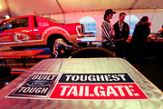 Kansas City Corporate Event and Marketing Photographer - Former Kansas City Chiefs player Dante Hall and football fans enjoy the Built Ford Tough Toughest Tailgate event at Arrowhead Stadium on Sunday, Dec. 25, 2016 in Kansas City, Mo. Photo by Colin E. Braley for Ford