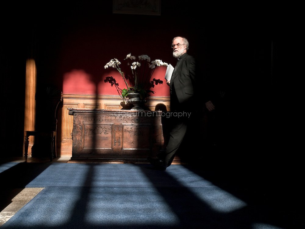 The Archbishop of Canterbury, Rowan Williams at Lambeth Palace, London..OLYMPUS DIGITAL CAMERA