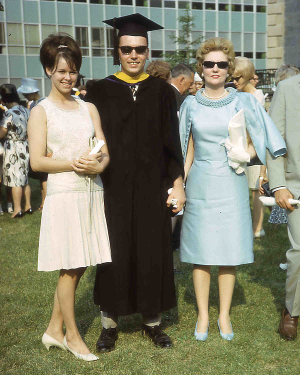 Robert with Lynn and his mother at College Graduation.