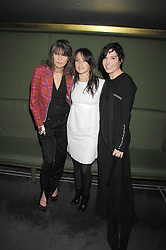 Left to right, CHRISSIE HYNDE, KT TUNSTALL and SHARLEEN SPITERI at 'Not Another Burns Night' in association with CLIC Sargebt and Children's Hospice Association Scotland held at ST.Martins Lane Hotel, London on 3rd March 2008.<br /><br />NON EXCLUSIVE - WORLD RIGHTS