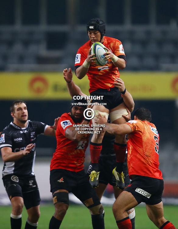 DURBAN, SOUTH AFRICA - JULY 15: Taiyo Ando of the Sunwolves during the Super Rugby match between the Cell C Sharks and Sunwolves at Growthpoint Kings Park on July 15, 2016 in Durban, South Africa. (Photo by Steve Haag/Gallo Images)