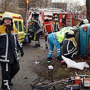 Ongeval met beknelling Huizermaatweg