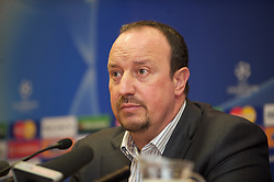 LIVERPOOL, ENGLAND - Tuesday, April 7, 2009: Liverpool's manager Rafael Benitez during a press conference at Anfield ahead of the UEFA Champions League First Quarter Final 1st Leg against Chelsea. (Photo by David Rawcliffe/Propaganda)