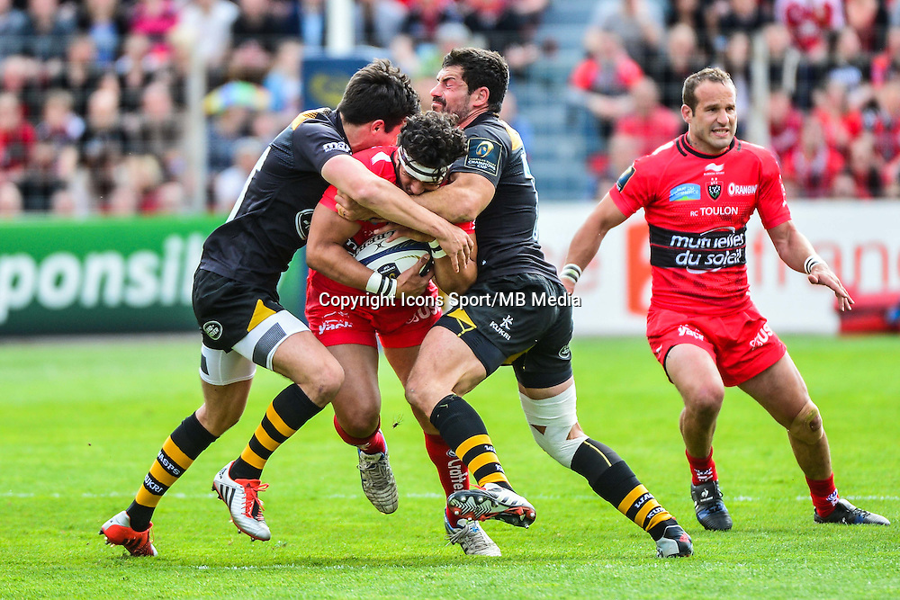 Maxime MERMOZ - 05.04.2015 - Toulon / Londres Wasps - 1/4Finale European Champions Cup<br />Photo : Dave Winter / Icon Sport
