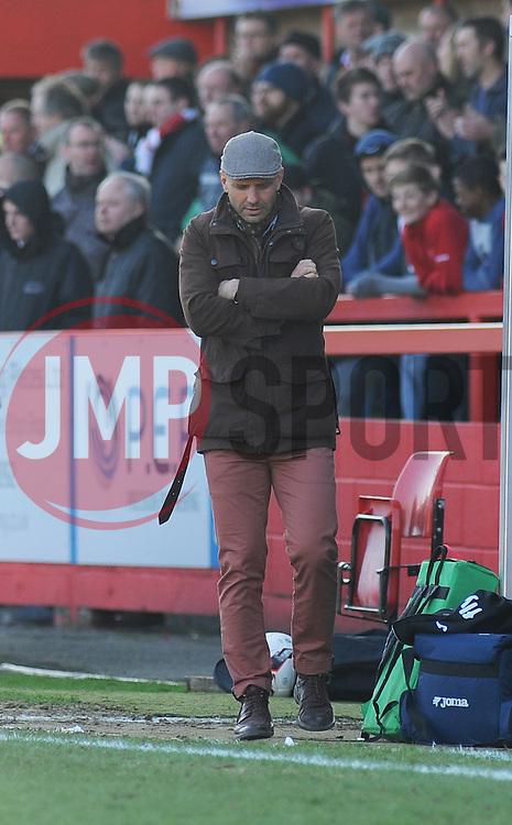 Exeter City Manager, Paul Tisdale -Photo mandatory by-line: Nizaam Jones - Mobile: 07966 386802 - 21/03/2015 - SPORT - Football - Cheltenham - Whaddon Road - Cheltenham Town v Exeter City - Sky Bet League Two