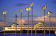 Image of Washington State Ferry on Puget Sound, Edmonds, Washington, Pacific Northwest