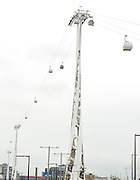 Cable car testing pictures<br /> 6th May 2012<br /> Greenwich Peninsular<br /> <br /> The Emirates Air Line will be the first urban cable car system of its kind in the UK, providing a new and exciting river crossing in the area.<br /> <br /> From summer 2012, the cable car will allow pedestrians, wheelchair users and cyclists to cross the river Thames within five minutes, from terminals at Emirates Greenwich Peninsula and Emirates Royal Docks.<br /> <br /> Emirates have sponsored the fast, regular and accessible crossing in a deal worth &pound;36m over 10 years. The crossing will encourage regeneration in the area and provide access to visitor attractions.