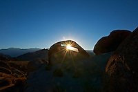 Sunrise Starburst Through Mobius Arch in the Alabama Hills near Lone Pine, California. Image taken with a Nikon D3x and 14-24 mm f/2.8 lens (ISO 100, 24 mm, f/22, 1/60 sec) processed using Capture One Pro 6.