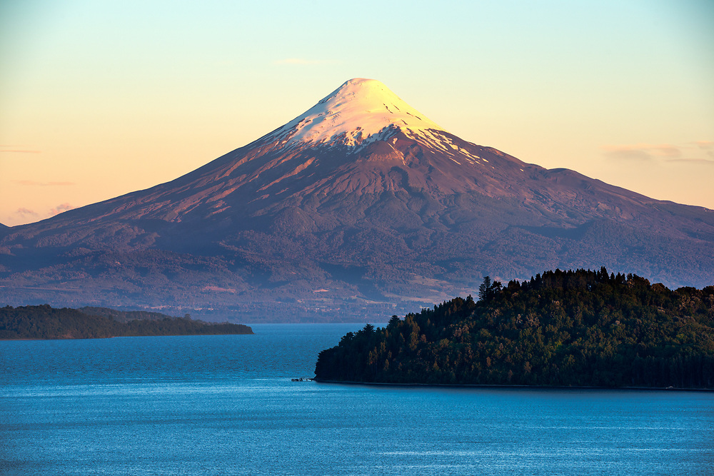 Osorno Volcano and Lake Llanquihue, X Region de Los Lagos, Chile