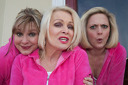 "© Licensed to London News Pictures. 20/02/202. London, England. L-R: Julie Coombe, Margi Clarke and Laura Checkley. ""Hormonal Housewives"" a comedy starring Margi Clarke, Laura Checkley and Julie Coombe embarks on a UK tour from 22 February to 13 May 2012, starting at the New Wimbledon Theatre. Photo credit: Bettina Strenske/LNP"