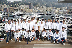 German Football national team with 7 Michael Schumacher and  8 Nico Rosberg at the Monaco Formula One Grand Prix at the Circuit de Monaco, Sunday May 27, 2012 in Monte Carlo, Monaco. Photo By Imago/i-Images