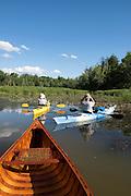 Canoeing the LaPlatte River Marsh Natural Area, Shelburne, Vermont.