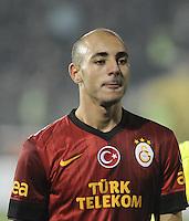 Turkey sportoto superleague match between Elazigspor v Galatasaray at Ataturk Stadium in Elazig on 24.11.2012<br /> Match Scored: Elazigspor 0 - Galatasaray 1<br /> Pictured: Nordin Amrabat of Galatasaray.