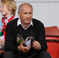 Liverpool, England - Saturday, September 1, 2007: Adidas representative Clive Evans watches Liverpool take on Derby County during the Premiership match at Anfield. (Photo by David Rawcliffe/Propaganda)